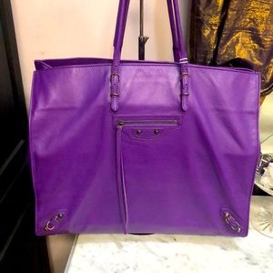 100% authentic bright purple Balenciaga tote